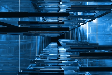 Futuristic blue technical space available for background Stock Photo