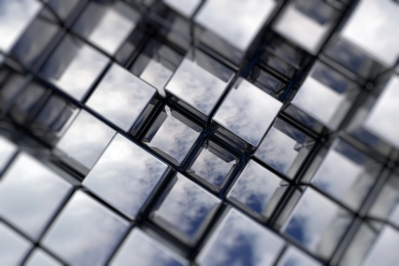 Abstract perspective cubic space available for background Stock Photo - 14383007