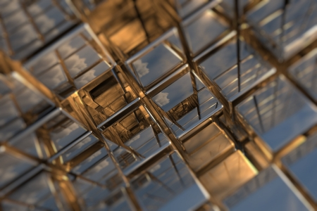 Abstract perspective cubic space available for background Stock Photo