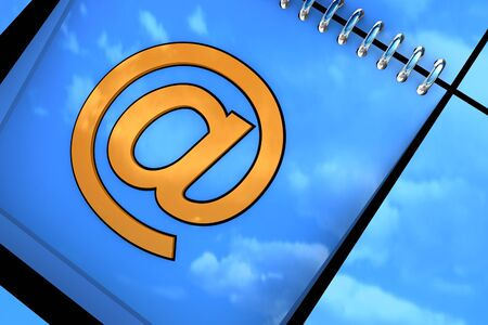 Blue background with email symbol available for background