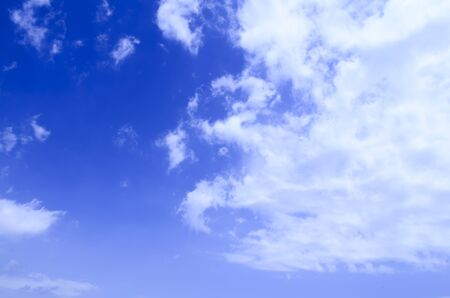 Clean blue sky and various cloud formations picture