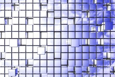 Abstract perspective cubic space available for background. Stock Photo