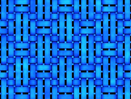 Abstratc 3d background with blue intertwined stripes.