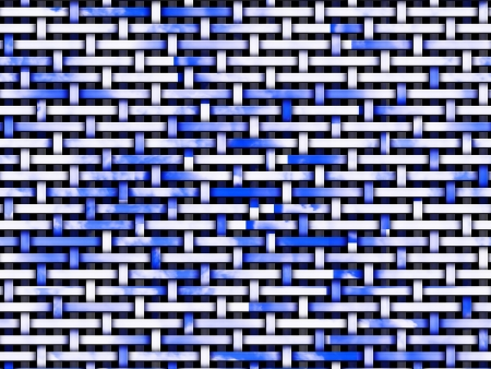 Abstratc 3d background with blue and white intertwined stripes. Stock Photo