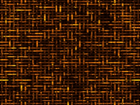 Abstratc 3d background with orange and brown intertwined stripes.