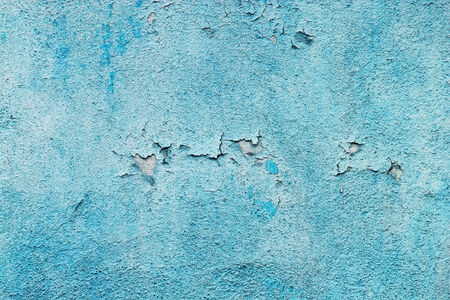 Detail of old blue plaster wall. Stock Photo