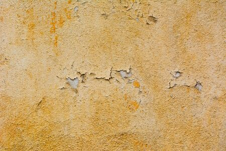 Detail of old orange plaster wall  Stock Photo