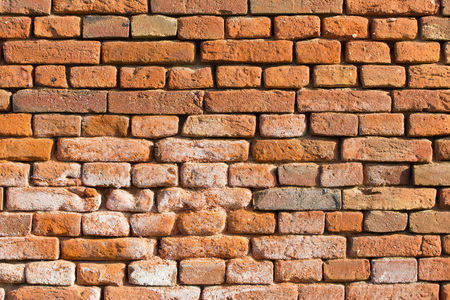Photo of aged brick wall  Stock Photo