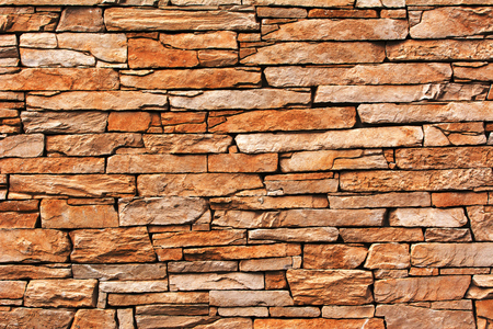 Detail of a stone wall with different size of rock