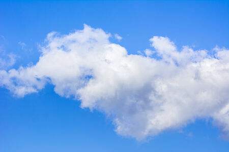 Photo of blue sky with clear white cloud