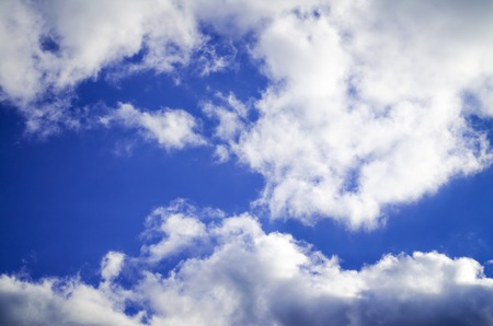 Photo of blue sky with white clouds  Stock Photo