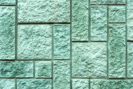 Detail of a stone wall with different size of block  Stock Photo