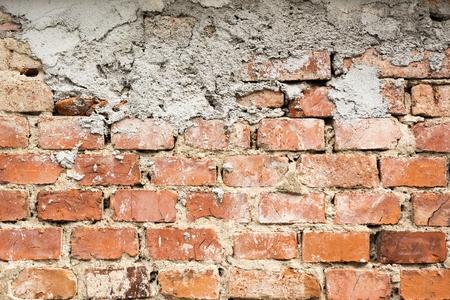 Photo of aged brick wall  Stock Photo