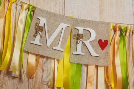 mr: MR banner Stock Photo