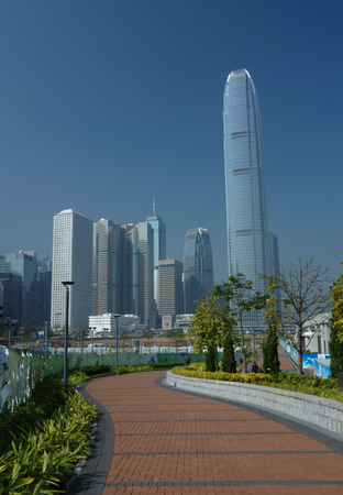 honking: View of downtown Hong-Kong in daylight Editorial