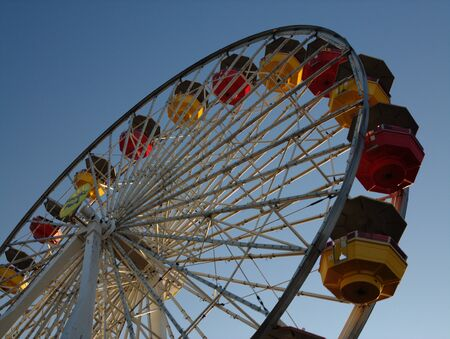 ferriswheel: Low angle view of a Ferris Wheel in a city fair Stock Photo