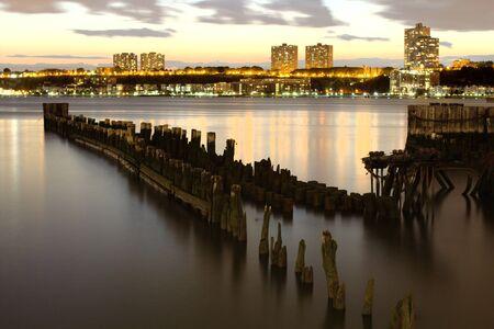 hudson: Hudson River in the evening looking westward