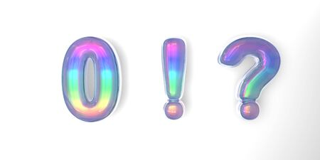 3D text of the letter 0, , in the style of soap bubbles with a rainbow tint on Фото со стока