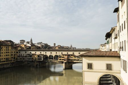 Picture of Ponte Vecchio over river Arno, Florence.