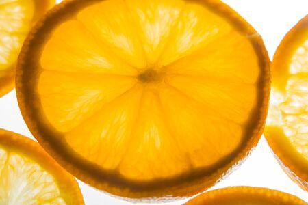 Orange slices back lighting.