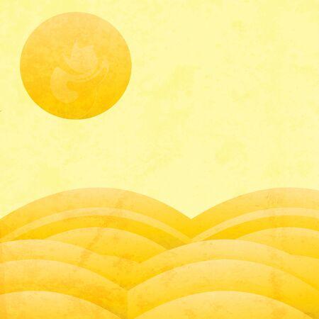 desert sun: Abstract retro desert sun background