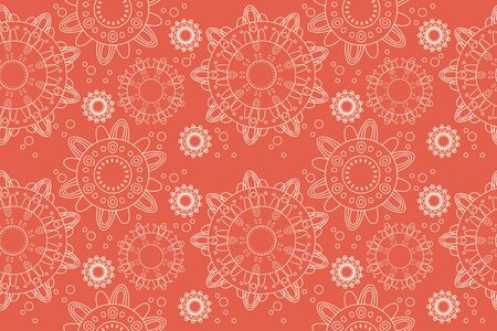 Seamless flower lace ornament background illustration illustration