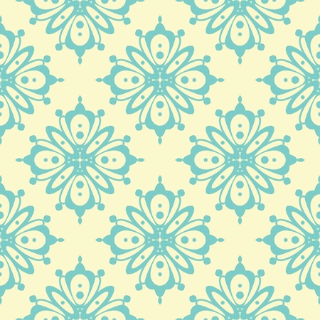 Seamless floral ornament background illustration illustration