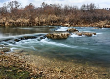 cascade: the water cascade of the river.