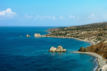 aphrodite: Cyprus, the Bay of Aphrodite. Stock Photo