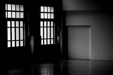 empty room is gloomy - interior background