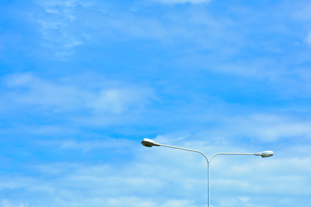 street lamp post with sky