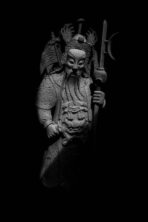 god of warrior statue in thailand temple