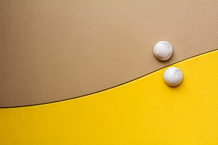 brown and yellow synthetic plastic texture