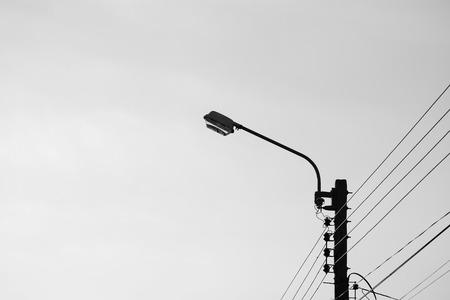 Modern street lamp - monochrome