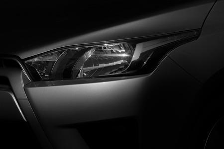 Car headlight - light and shadow