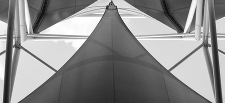 fabric tensile roof and steel structure - background