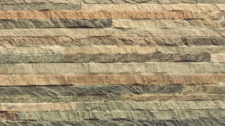 brown modern brick wall pattern and background Stock Photo