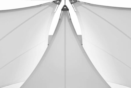 fabric tensile roof - monochrome 版權商用圖片 - 125031071