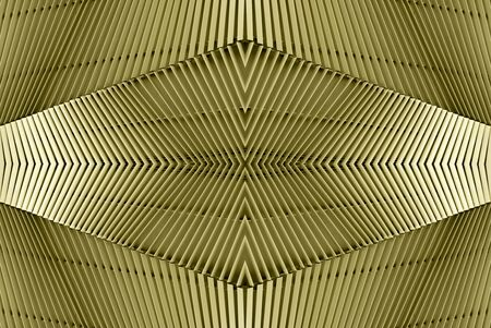 golden modern architecture of a steel wall pattern.