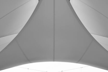 fabric tensile roof monochrome