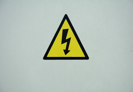 Warning about dangerous electricity.
