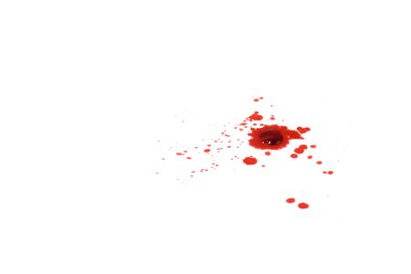 blood splashes isolated on white background Standard-Bild