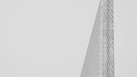 pattern of wire rope at suspension bridge - monochrome background