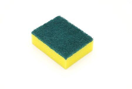 sponges for dishwashing isolated on white background