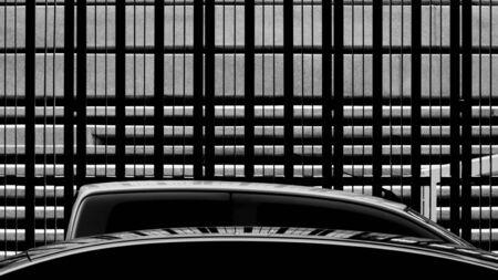 pattern of metal fence Stockfoto