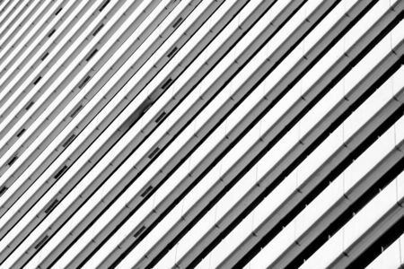 Architectural of modern building pattern black and white