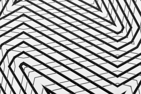 architecture of pattern a modern glass window in the city - monochrome 版權商用圖片