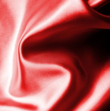 red wavy Silk background texture