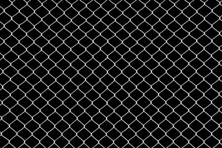 cage metal wire on black background Stock Photo