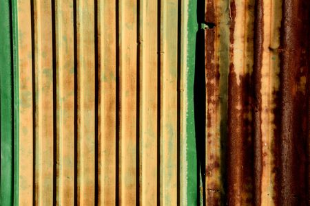 Old metal sheet roof texture. Abstract background.